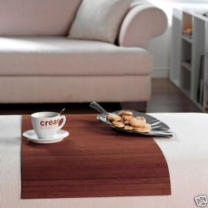 prot ge accoudoir bambou accoudoir couleur mocha 40x60cm ebay. Black Bedroom Furniture Sets. Home Design Ideas