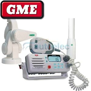 GME GX600 BOAT MARINE VHF RADIO + ANTENNA + BASE AW364V ABL014 NEW WATERPROOF