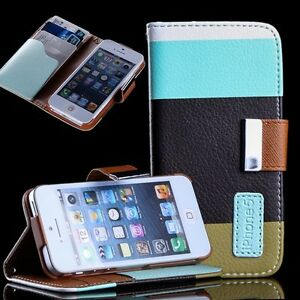 For-iPhone-5-5G-6th-Case-Cover-Flip-Leather-Wallet-Stand-Card-Pouch