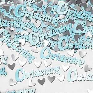 1 PACK BABY BOY BLUE CHRISTENING CONFETTI /  TABLE SPRINKLES  PARTY DECORATIONS