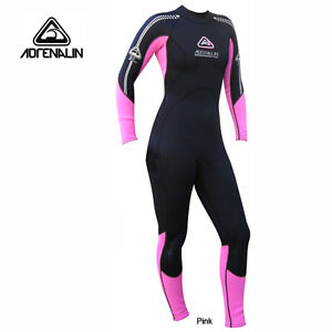 NEW Adrenalin Ladies Steamer Wetsuit Long Sleeve & Leg 3mm/2mm Womens Wet Suit