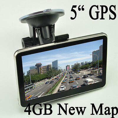 5 Inch Auto Car GPS Navigation Sat Nav 4GB New Map WinCE 6.0 FM Mp3 Mp4 on Rummage