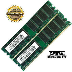 2GB (2x1GB) DDR 400 MHz PC3200 Non-ECC Desktop PC (DIMM) Memory RAM 184-pin