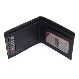 Alpine Swiss Mens Leather Wallet Trifold Bifold Superb Quality Comes in Gift Bag