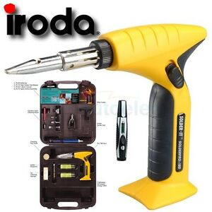 IRODA PRO-180 GAS BUTANE SOLDERING IRON & WELDING KIT HOT HEAT NEW + 6 IN 1