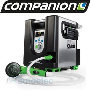 COMPANION AQUACUBE LOGIC PORTABLE LPG GAS SHOWER HOT WATER CAMPING 12V 12 VOLT