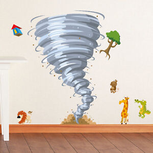 Jungle Tornado For Kids Wall Decor Vinyl Decal Removable Stickers HL11