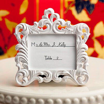 50 White Baroque Style Picture Frames Place Card Wedding Party Favor Bulk Lot