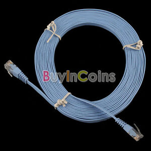 New 15FT 5M CAT6 CAT 6 Flat UTP Ethernet Network Cable RJ45 Patch LAN Cord