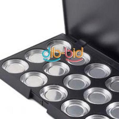 15 PCS 26mm Empty Eyeshadow Aluminum Pans Container Box with Palette HY