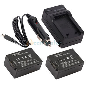 2 DMW-BMB9 BMB9E Battery +Charger for Panasonic Lumix DMC-FZ40 DMC-FZ45 DMC-FZ48
