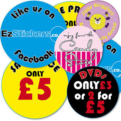 Designed and printed personalised shop business stickers upto 700 labels
