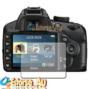 3x LCD Screen Protector For Nikon D3200 DSLR Camera