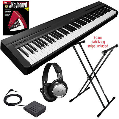 Yamaha P-35 88-Key Digital Piano - Black KEY ESSENTIALS BUNDLE on Rummage