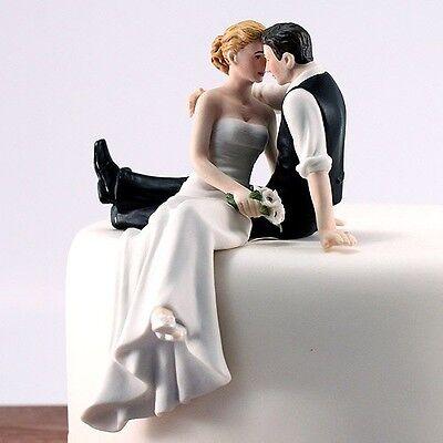 Tortenfigur Tortendekoration zur Hochzeit 'Look of Love' - sitzend Kantenhocker