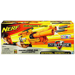 Nerf BARREL BREAK Gun IX-2 N-strike Double Barrel Blaster BRAND NEW