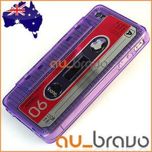 Ultra Clear TPU Cassette Tape Case Cover for Apple iPhone 4S 4-S 4 4G 4GS