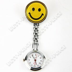U Pick: Cute Portable Smile Face Nurse Watch 4 Pocket Clip Pendant Child Gift