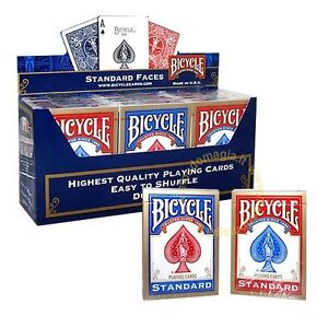 DUE-mazzi-di-carte-BICYCLE-Standard-per-giochi-di-prestigio-Magia-e-Poker