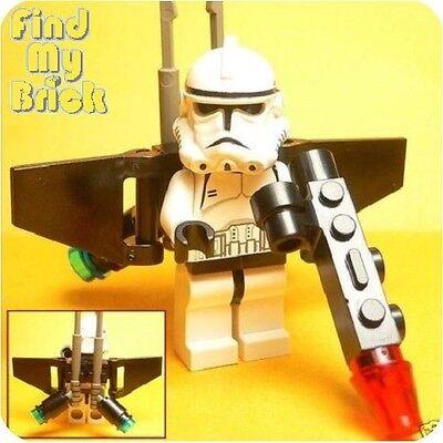 Lego Sw Clone Turbo Aerial Clone Trooper Minifigure With Jet Pack Gun 7261