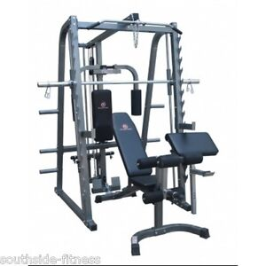 Revolution Smith Machine Power Rack Home Gym And Bench Press Ebay