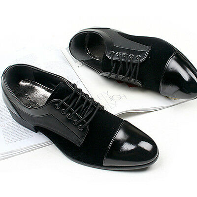 New Mens Dress Formal Casual Mens Oxford Shoes Black US 10