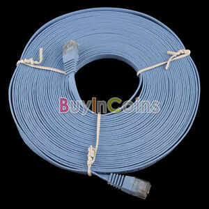 New 30FT 10M CAT6 CAT 6 Flat UTP Ethernet Network Cable RJ45 Patch LAN Cord