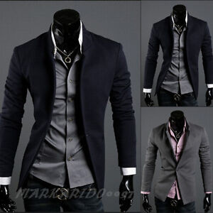 Mens-Casual-TOP-Design-Sexy-Slim-FIT-Blazers-Coats-Suit-Jackets-H679-XS-S-M-L