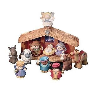 Fisher-Price-Little-People-Childrens-Nativity-Set-Christmas-Story-Opened-Box