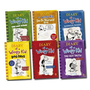 NEW-Diary-of-a-Wimpy-Kid-Collection-6-books-box-set-Brand-New-Fast-Dispatc