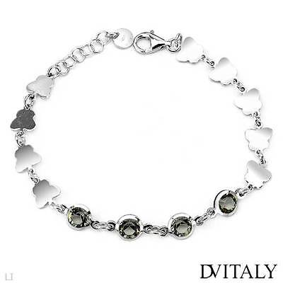 Dv Italy Beautiful Bracelet With Genuine Crystal In 925 Sterling Silver