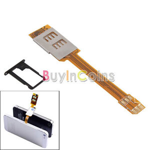 New Dual SIM Card Adapter Converter Holder for Apple iPhone 5 5th Gen Five