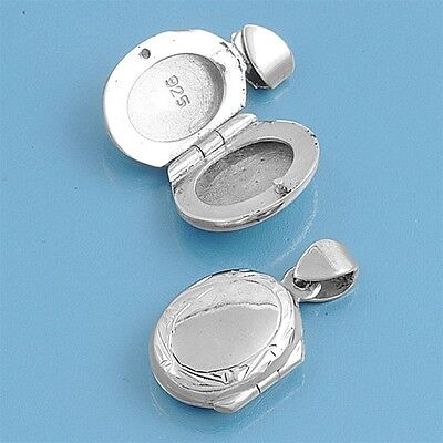 Star Locket .925 Sterling Silver Pendant .75 on Sale
