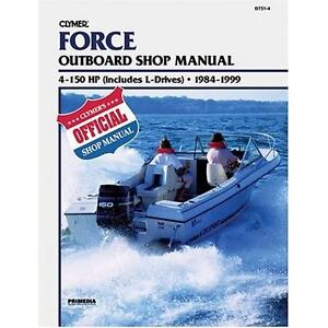 Force outboard shop service repair manual boat book 9 9 15 for Boat motor repair shops