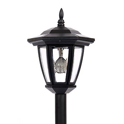 6 NEW Outdoor Garden 3-LED Antique Solar Landscape Light Lamp Lawn Post