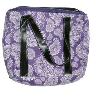 Arctic Zone Purple Paisley Lunch Box Insulated Lunch Bag Lunchbox Purse Tote