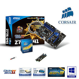 Bundle Intel Core i3 3220 2x/4x 3.3GHz / MSI Z77 Mainboard / 8GB Corsair RAM