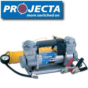 PROJECTA TYPHOON 12 VOLT 12V AIR COMPRESSOR INFLATOR TIRE TYRE CAR 4WD DUTY 150