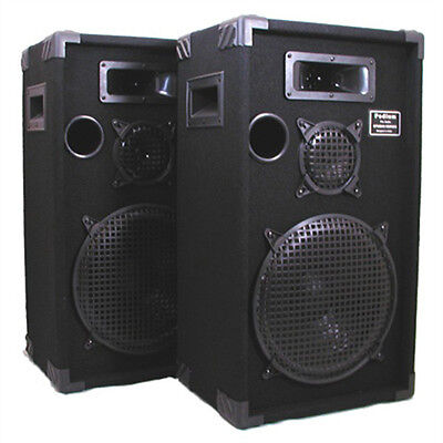 Pro Audio PA DJ Speakers New 12 Inch 3 Way Karaoke Pair 1200C on Rummage