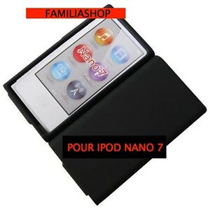 Housse etui coque silicone noir noire pour ipod nano 7 7g for Housse ipod nano
