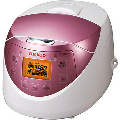 [6 Cups] CUCKOO Rice Cooker CR-0632FV Quick Regular Heating  580W White 220V
