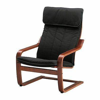 Ikea Poang Chair Only Medium Brown (cushion Not Included)