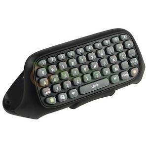 Black Controller Keyboard Keypad Text Messenger Pad ChatPad For Xbox 360