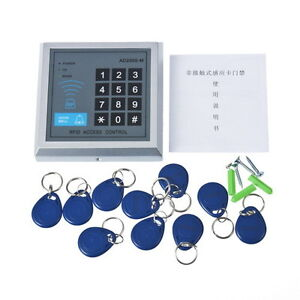 Security Home RFID Door Proximity Lock Entry Access Control System + 10 Key Fobs