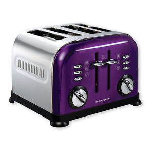 4-Scheiben-Toaster ACCENTS plum / Morphy Richards /  4-Schlitz-Toaster