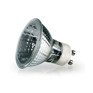 5Pk GU10 120V 50W Halogen Light Bulb Flood 40 Degree