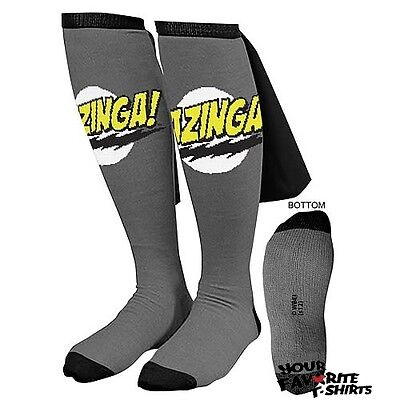 Big Bang Theory Gray Bazinga Caped Socks Sheldon Cooper Licensed Socks on Sale
