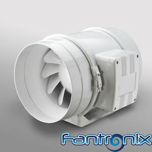 Loft Mounted Bathroom Shower Fan Inline Ventilation Extractor 100mm 4