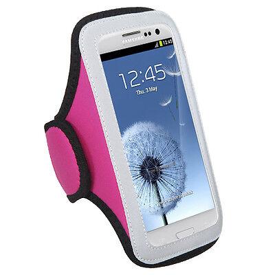 GYM WORKOUT NEOPRENE ARMBAND PINK HTC ONE X EVO4G LTE