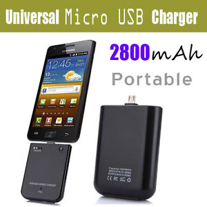 Micro USB External Battery Charger For Samsung Galaxy S S2 Note Nexus Ace S5830